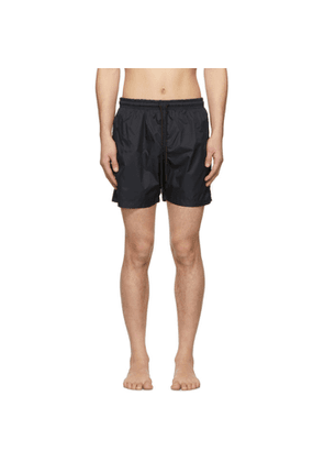Solid and Striped Black Classic Swim Shorts