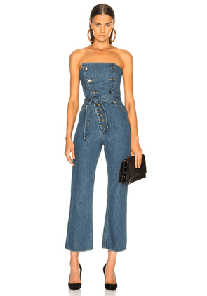 Marissa Webb Marselle Jumpsuit in Distressed Blue - Blue. Size 6 (also in 2).
