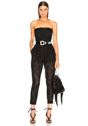 Philosophy di Lorenzo Serafini Strapless Belted Waist Jumpsuit in Black - Black. Size 42 (also in ).