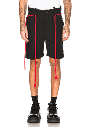 Craig Green Rope Shorts in Black - Black. Size S (also in M).