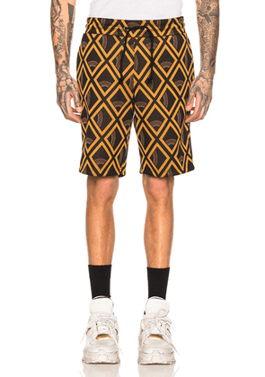 Maison Margiela Vintage Shorts in Black Caramel Check - Abstract,Black,Yellow. Size 52 (also in 50).
