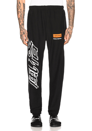 Heron Preston CTNMB Sweatpants in Black & White - Black. Size S (also in ).