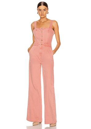 FRAME Vintage Jumpsuit in Peony - Pink. Size M (also in XS).