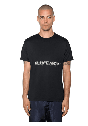 Oversized Logo Printed Cotton T-shirt