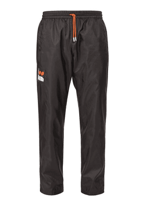 Heron Preston - Стиль Appliqué Slim Fit Track Pants - Mens - Black Multi