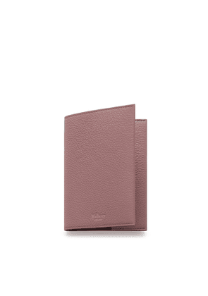 Mulberry Passport Cover in Mocha Rose Small Classic Grain