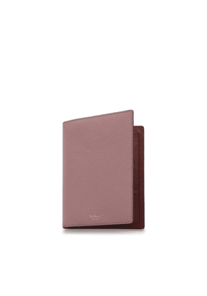 Mulberry Passport Cover Wallet in Mocha Rose Small Classic Grain