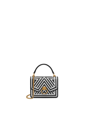 Mulberry Small Harlow Satchel in Black and White Patchwork