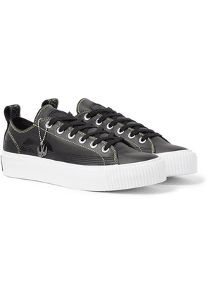 McQ Alexander McQueen - Plimsoll Leather Sneakers - Black
