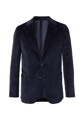 Caruso - Indigo Unstructured Cotton-blend Corduroy Suit Jacket - Navy