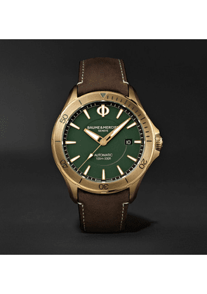 Baume & Mercier - Clifton Club Automatic 42mm Stainless Steel And Suede Watch - Green