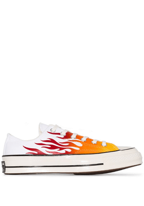 Converse white Chuck 70 Archive Flames Sneakers