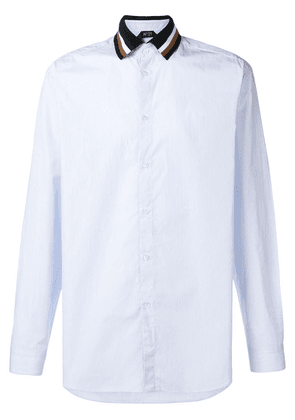 Nº21 contrast-collar fitted shirt - Blue