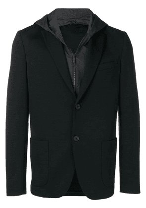 Fendi hooded logo blazer - Black
