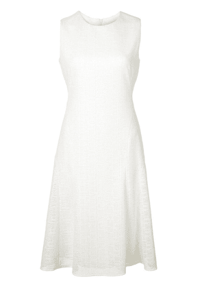 Akris Punto woven fit-and-flare dress - White