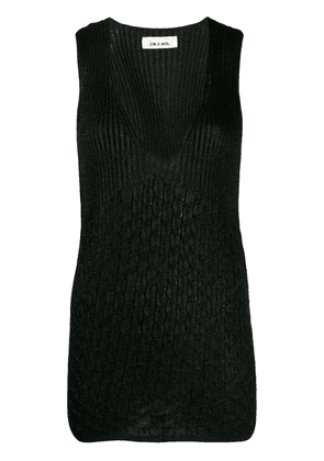 Circus Hotel lamé knitted tank top - Black