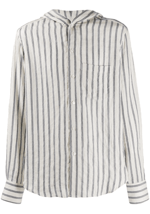 Loewe hooded stripe shirt - White