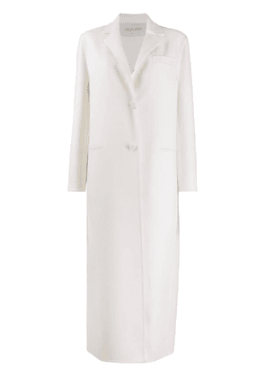 Valentino long single-breasted coat - White