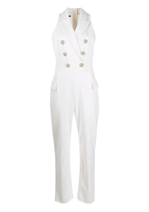 Balmain double-breasted jumpsuit - White