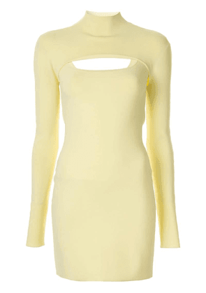 Dion Lee fitted mini dress - Yellow