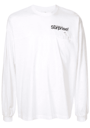 Doublet slogan long-sleeve top - White