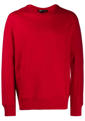Y-3 logo print sweatshirt - Red