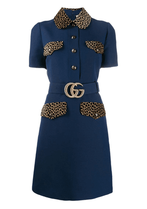 Gucci GG belt short dress - Blue