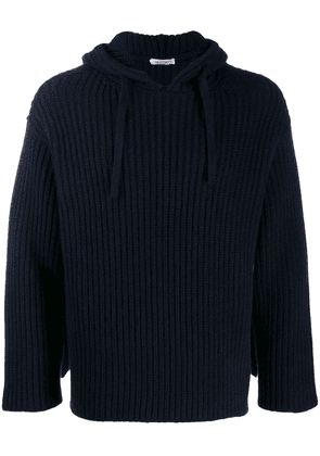 Valentino ribbed hoodie - Blue