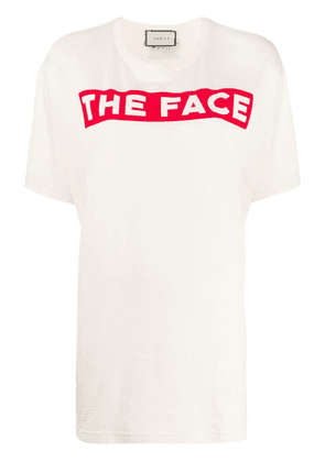 Gucci The Face print T-shirt - Neutrals