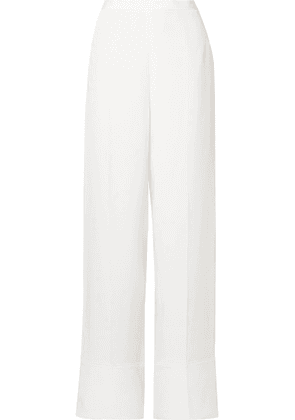 Stella McCartney - Silk Crepe De Chine Wide-leg Pants - Ivory