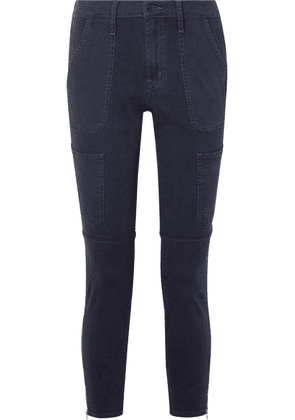J Brand - Cropped Cotton-blend Twill Skinny Pants - Navy