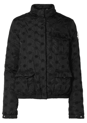 Moncler Genius - + 4 Simone Rocha Hillary Broderie Anglaise Shell Jacket - Black