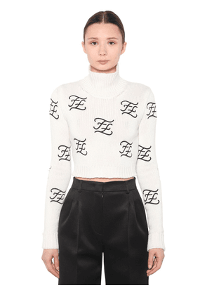 Embroidered Wool & Cashmere Knit Sweater
