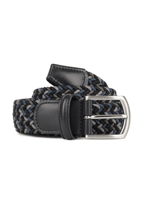 Andersons Woven Textile Belt Black, Grey and Blue