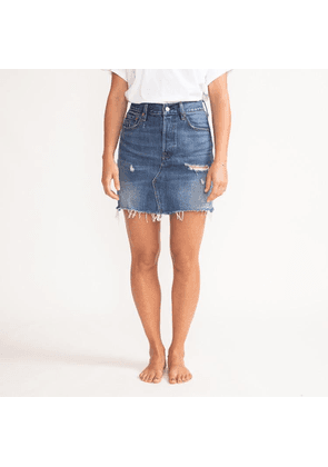 Levis Decon Iconic Blue High Plains Skirt