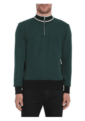ZIPPED TURTLE NECK SWEATER