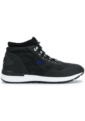 Armani Jeans lace-up hi-top sneakers - Black