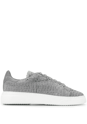 By Walid stitch detail low top sneakers - Grey