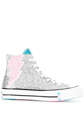 Converse ankle lace-up sneakers - Silver
