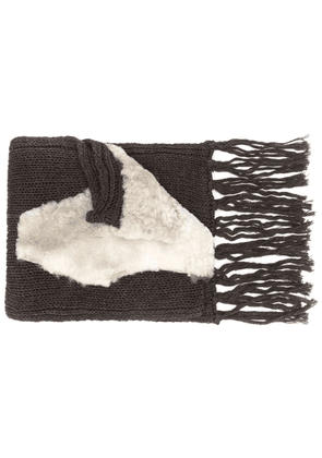 Cutuli Cult oversized knit scarf - Brown