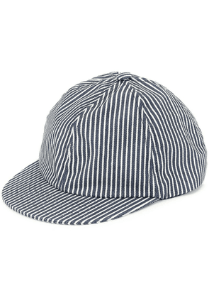 Beton Cire striped baseball cap - Blue