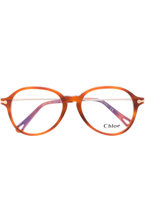 Chloé Eyewear round frame glasses - Brown