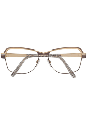 Cazal square frame glasses - Gold