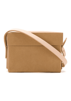 Gloria Coelho paper bag with leather straps - Brown