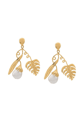 Aurelie Bidermann Grigri clip-on earrings - Gold