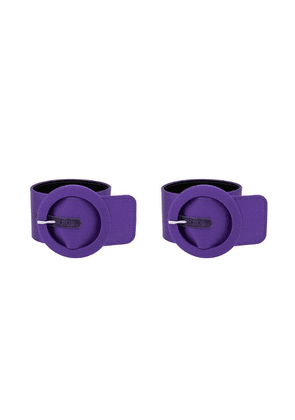 Attico Circle buckled bracelet - Purple