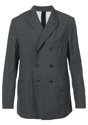 Forme D'expression double-breasted fitted blazer - Black