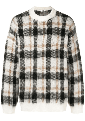 Cmmn Swdn plaid knitted sweater - Brown