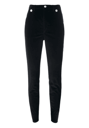 Isabel Marant skinny button detail trousers - Black