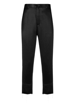 Ann Demeulemeester cropped high waisted trousers - Black